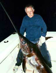 Trophy swordfish caught off Miami Beach, FL.